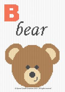 dbe413d4dac Crochet Patterns - Letter B - BEAR Baby Graph Chart Afghan Pattern ...