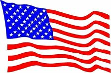 USA United States of America National Flag Blowing Sticker Decal Vinyl Graphic