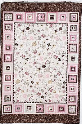 Itty Bitty Girl Baby Panel by Marcus Fabrics  btp