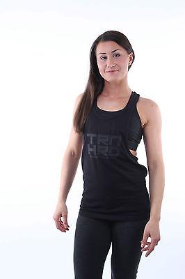 Ladies / Damen Tank Top – Schwarz, loose fit Fitness Gym Bodybuilding Workout !!