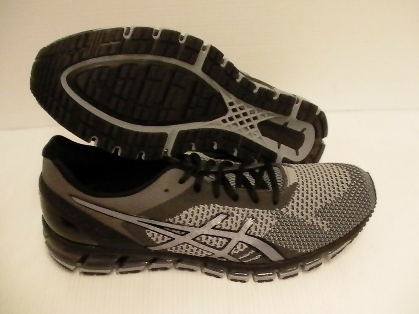 Asics men's gel quantum 360 knit running shoes mid grey carbon black size 12 us
