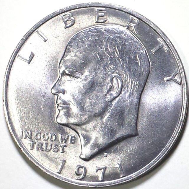 1971-D- 1$ Eisenhower Dollar Coin - Copper-Nickel Clad  Ike Denver
