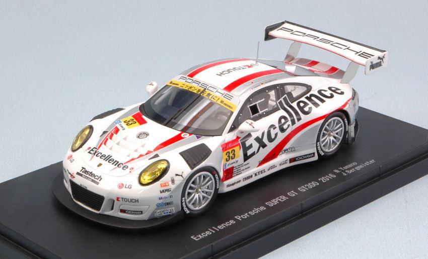 a la venta Porsche 911 Gt3 Gt3 Gt3  33 2nd Motegi súper Gt300 N. Yamano   J. Bergmeister 1 43 Model  Precio al por mayor y calidad confiable.