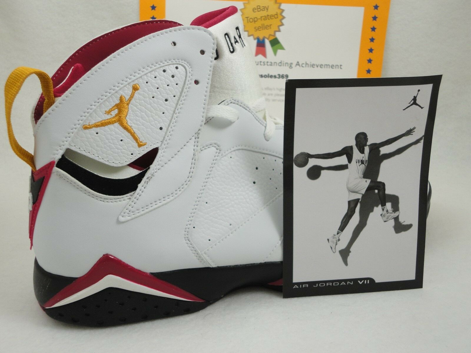 Nike Air Jordan 7 Retro, White / Black / Cardinal Red, 2006, Size 14