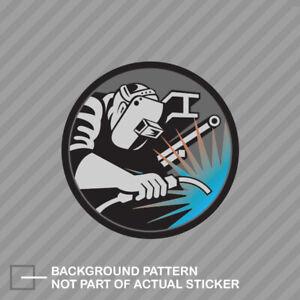 Welder Logo Sticker Decal Vinyl Hardhat Welding Mig Tig Ebay
