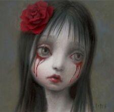 Mark Ryden Rose Blood Tears Girl Sad Gothic Portrait Crying Art Nightmare