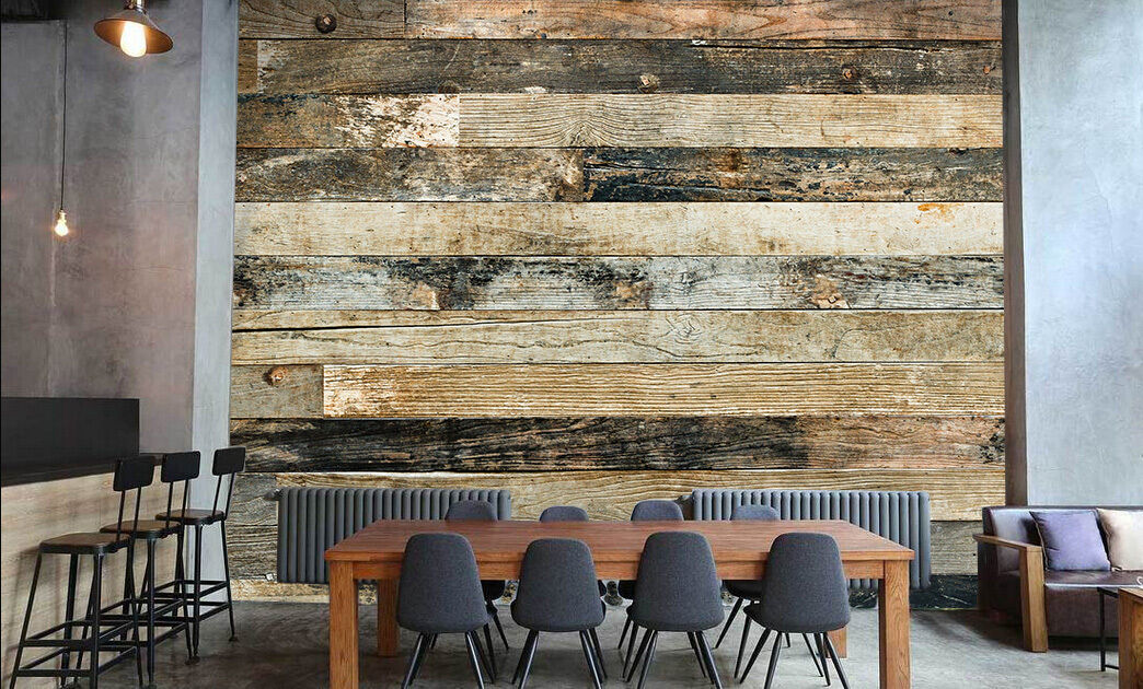 3D Striped Wood 232 Paper Wall Print Wall Decal Wall Deco Indoor Murals
