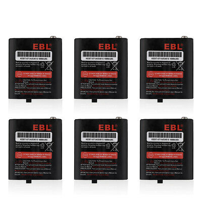 6X 1000mAh 3.6V Ni-MH Battery For Motorola talkabout Radio 53615 KEBT-071A 53617