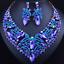Fashion-Women-Pendant-Crystal-Choker-Chunky-Statement-Chain-Bib-Necklace-Jewelry thumbnail 57