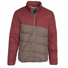 NEW* VOLCOM MENS M Down Parka JACKET HOODY SHIRT $135 Retail Tan Rust
