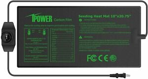 iPower Seeding Heat Mat Warm Hydroponic Plant Germination Starting Pad