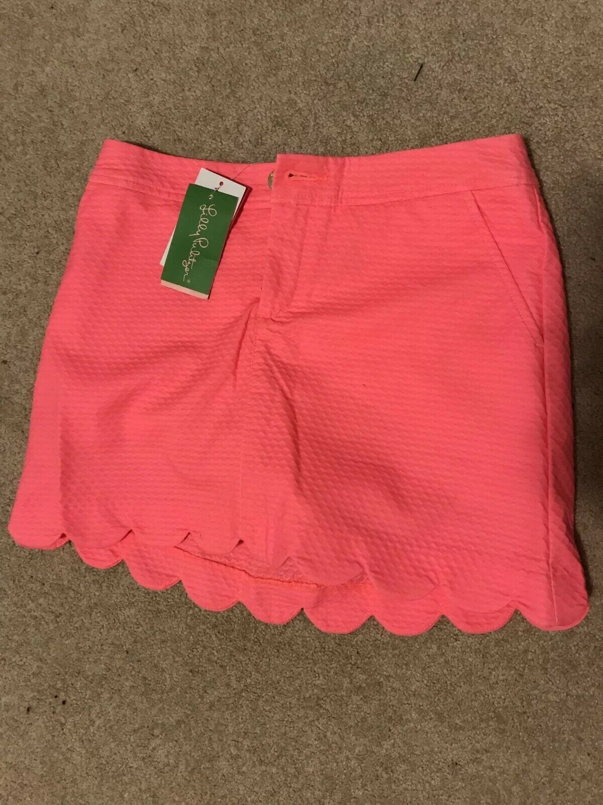 NEW WITH TAGS LILLY PULITZER  COLETTE SKORT CORAL REEF Größe 0