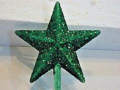Classic Green Glitter Star Ceramic Christmas Tree Topper Vintage Rare Ebay