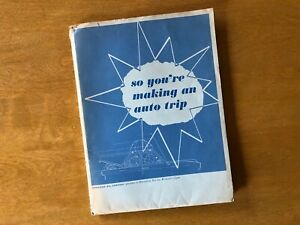Vintage-American-Oil-Company-tourist-advertising-travel-Standard-guide-map-women