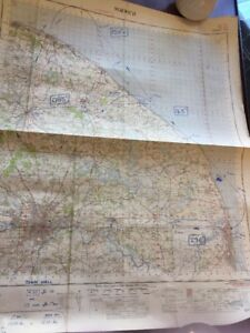 VINTAGE-ORDNANCE-SURVEY-OF-GREAT-BRITAIN-MAP-NORWICH-WITH-BLUE-PEN-NOTES