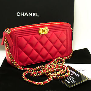 0e43090e87fc n53 CHANEL Authentic Boy Hot Pink Wallet On Chain WOC W Zip Chain ...