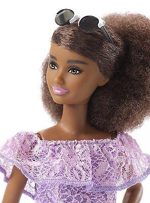 Cooperativa Nrfb Poupée Doll Barbie Aa Afro Fashionistas N°93 Robe Dentelle Violette Fjf53