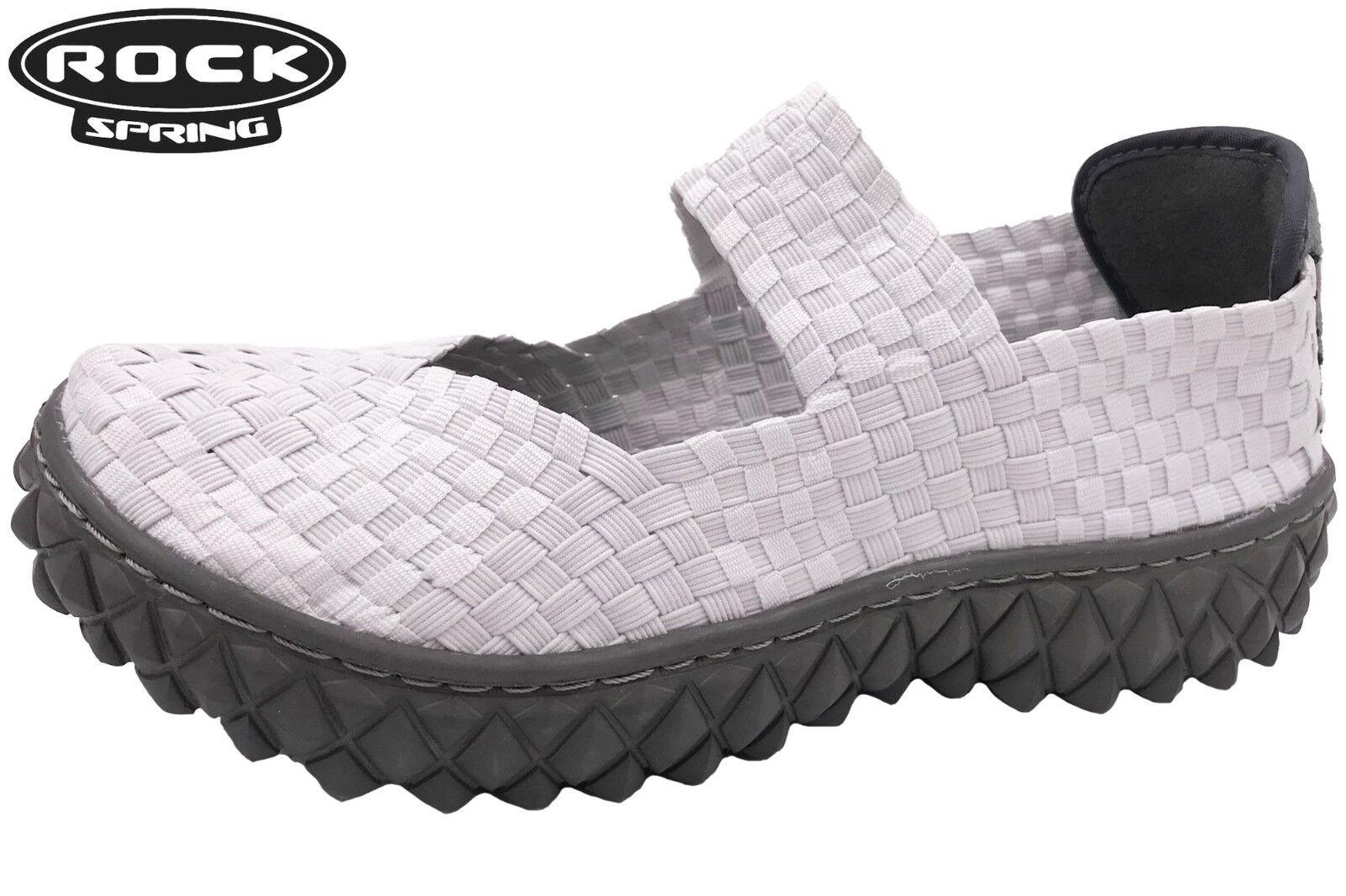 Rock Spring Schuhe Weiß Freizeitschuhe geflochten Over Weiche Memory Decksohle