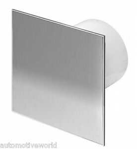 Bathroom Extractor Fan 100mm 4 Modern Metal Stainless Steel Ventilator Wti100 Ebay