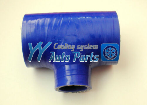"Silicone Hose T-piece 3 way 60mm 2.375/"" Blue"