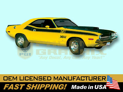 NO NAME SIDE STRIPE KIT DECAL GE-QG-508-CUSTOM 1970 DODGE CHALLENGER T//A