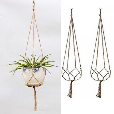 Hemp Rope Woven Gardening Green Woven Lanyard Basket Flower Pot Home Decoration