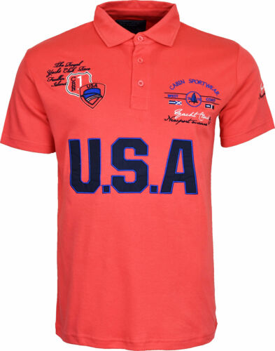 Mens Short Sleeve Summer Polo T Shirt With Front Embroidery Design USA Top