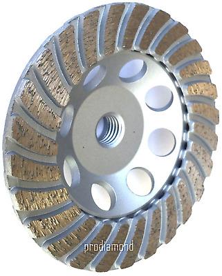 """4.5/"""" x26 SEGMENT COARSE#20//25 PRO.DIAMOND CUP WHEEL-/>Granite Stone Concrete-BEST"""