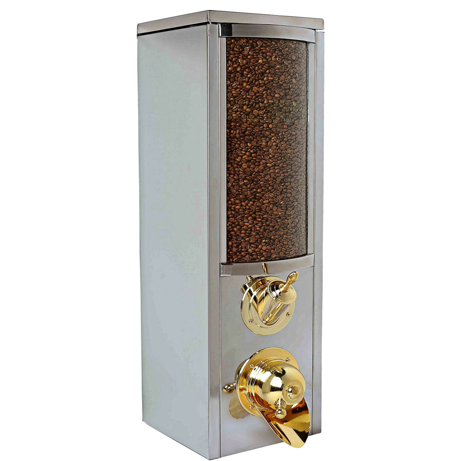 New Model Best Coffee Bean Dispenser Stainless Steel, 85 H x 25 D x 25 W