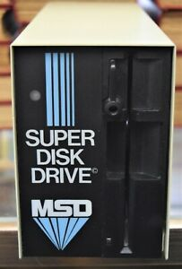 MSD-SD-1-Super-Disk-Drive-IEEE-48-and-Serial-for-Commodore-64-128-PET-Powers-On