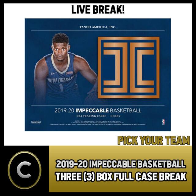 2019-20 PANINI IMPECCABLE BASKETBALL 3 BOX CASE BREAK #B422 - PICK YOUR TEAM