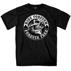 Biker-T-Shirt-Ace-of-Spade-Ride-Forever-Skull-s-Masse