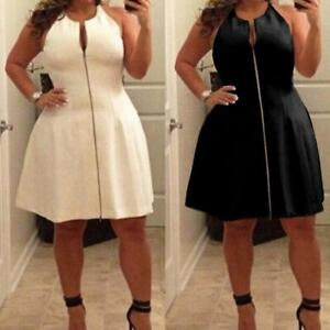 L-5XL-Plus-Size-Women-Off-Shoulder-Solid-Cocktail-Evening-Party-Short-Mini-Dress