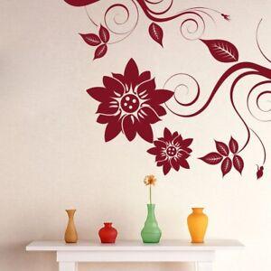Wall Sticker Corner Swirl Design  Removable Bedroom Art Vinyl Decal Home Decor
