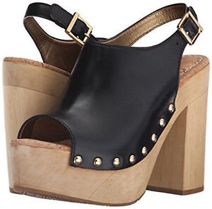 Details About Sam Edelman Marley Womens Wooden Platform Sandal Stud Detail Black New