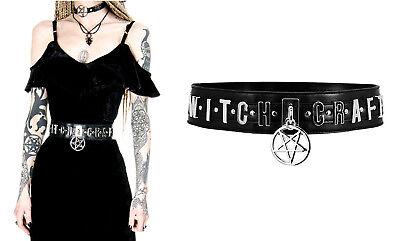 Restyle Gürtel Gothic Nugoth Witch Craft Pentagramm Gothic Nugoth Hexenwerk Hexe