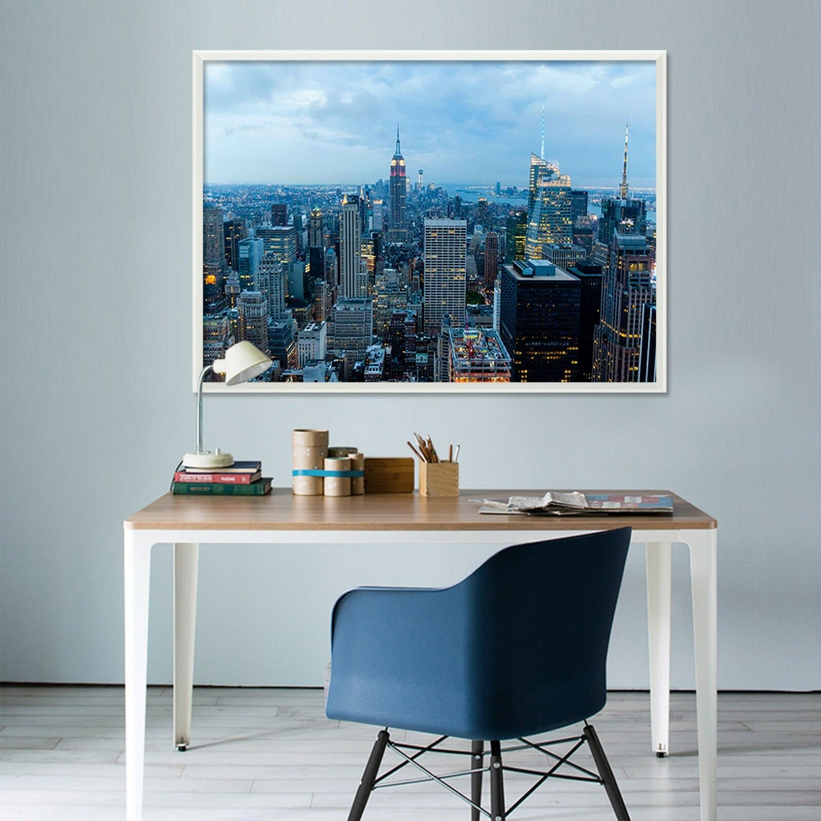 3D Night Sky City Buildings 1 Framed Poster Home Decor Print Painting WALLPAPER