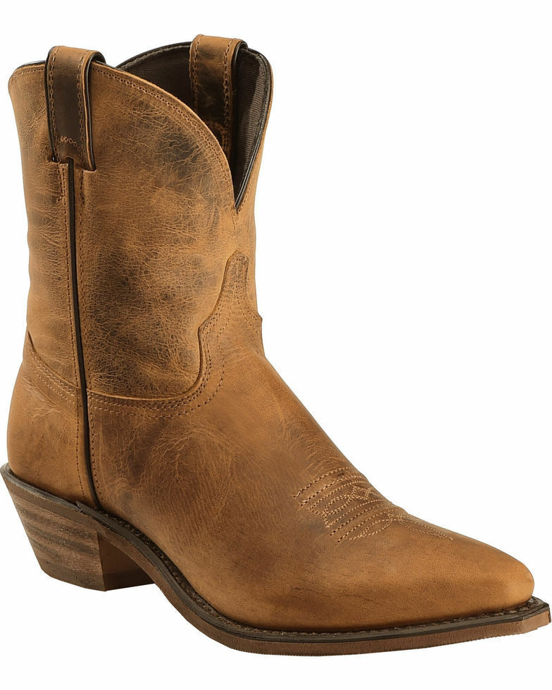Abilene Distressed Brown Cowgirl Boots - Snip Toe 7.5 M - BRAND NEW with TAGS