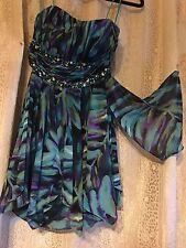 Women's /Girl's Morgan &  Co Multy Color Prom/Dance Dress sz 1/2