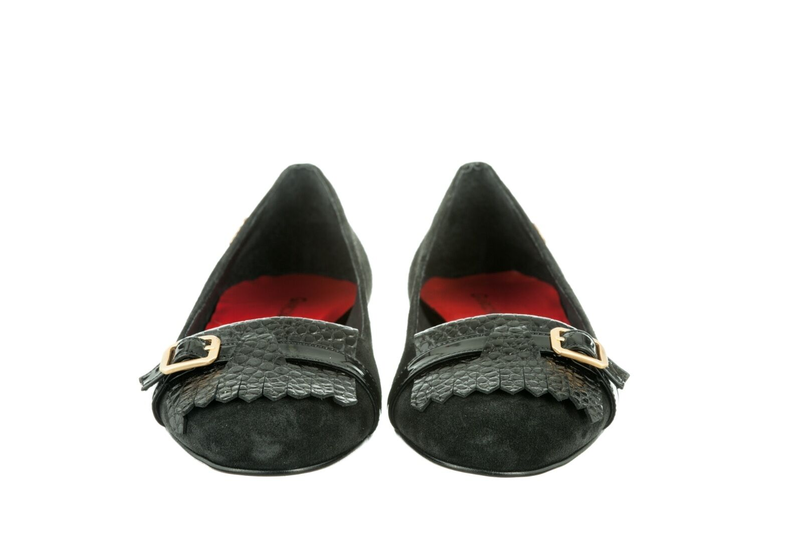 MORI MADE LEATHER ITALY FLATS SCHUHE Schuhe BALLERINA KROCO SUEDE LEATHER MADE BLACK NERO 40 1a6db8