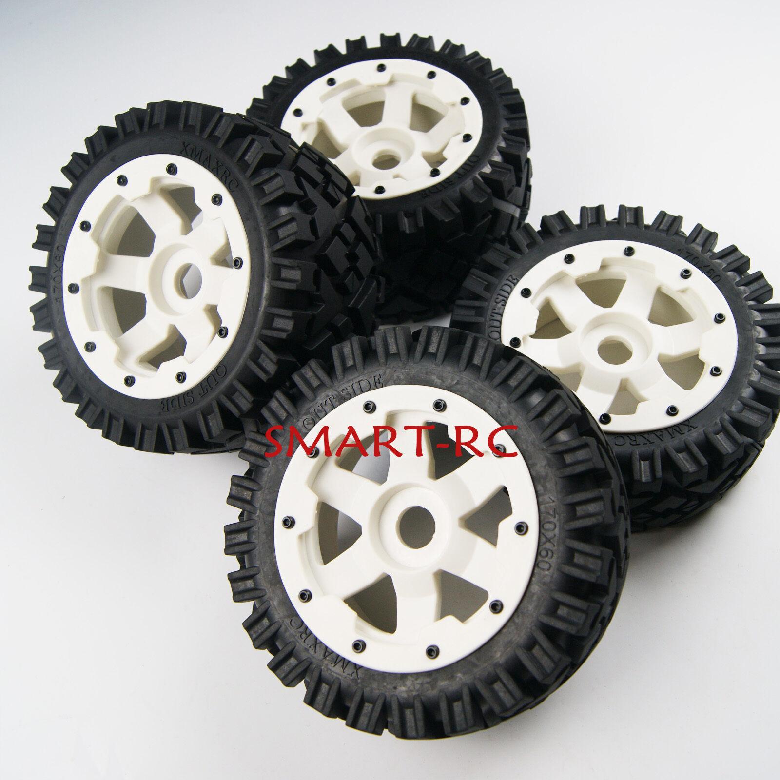 molte sorprese Bianca davanti davanti davanti Rear tutti Terrain Tyre tire Rueda for Rovan re Motor HPI baja 5b SS  negozio di vendita outlet
