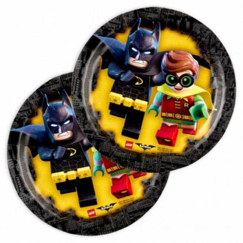 F1 8 x Lego Batman Pappteller 18 cm Durchmesser Neu OVP