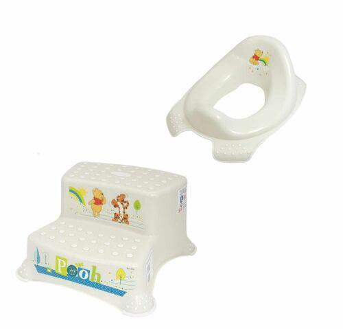 2er Set Z Winnie Puuh perl weiß Toilettensitz zweistufiger Tritthocker