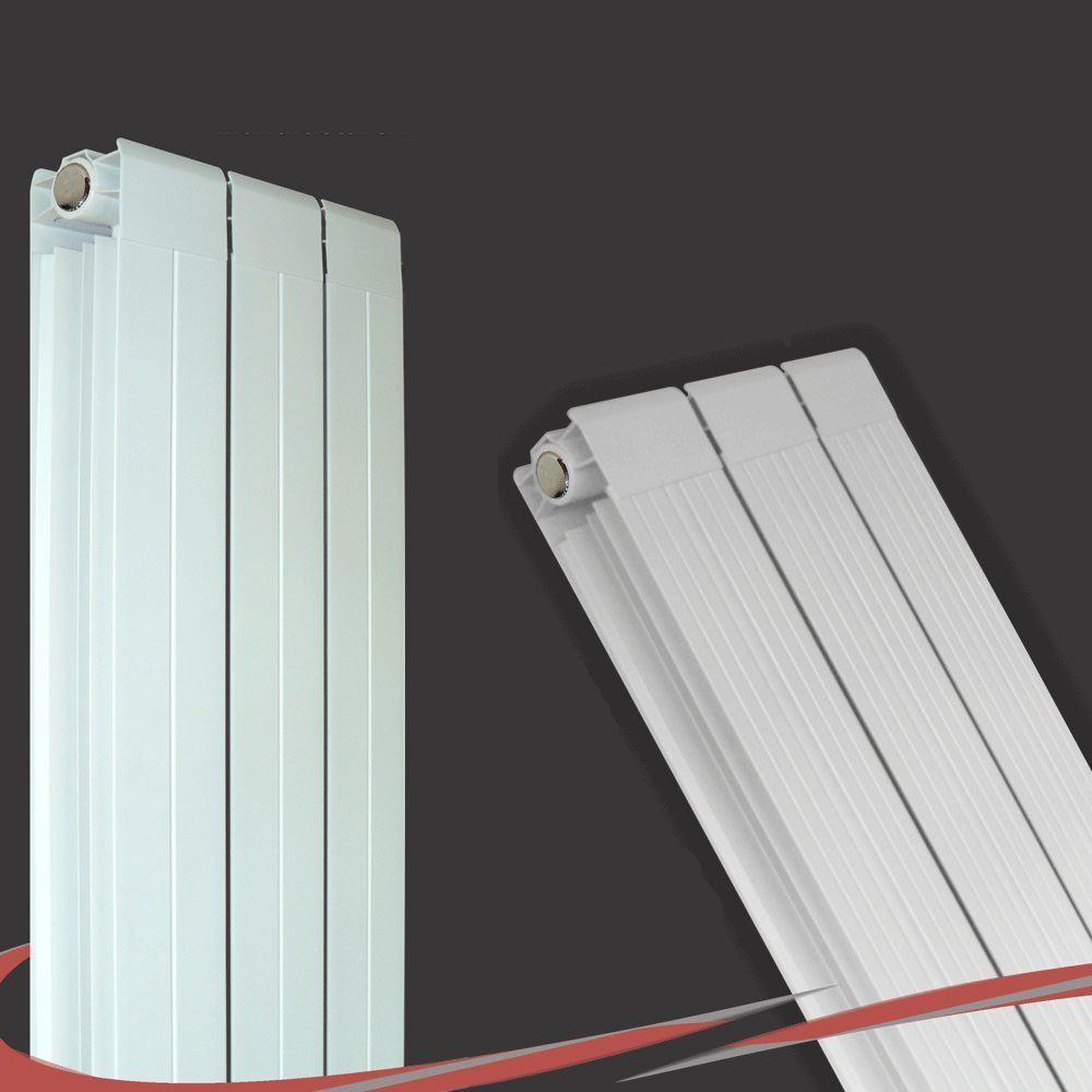 245 mm (W) x 1800mm (H)  El Vesuvio  blancoa verdeical Aluminium radiador - 3334 Btu