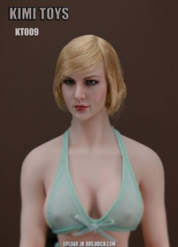 1//6 Scale KIMI TOYS Female Head Sculpt Fit 12/'/' Phicen Body Figure KT004-KT009