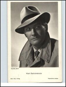 Echtfoto-AK-Film-Foto-Verlag-Kino-Buehne-Theater-Schauspieler-KARL-SCHONBOCK-Foto