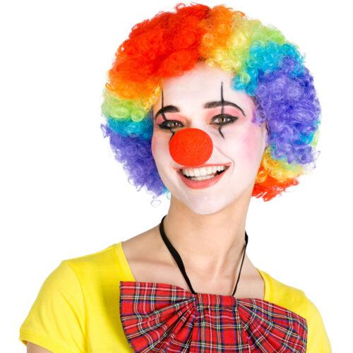 Afro Perücke Clown Hippie Popstar 80er 70er Jahre Karneval Fasching Clownperücke