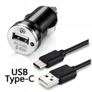 Chargeur-Voiture-Allume-Cigare-Cable-USB-Type-C-Noir-pour-Huawei-Mate-20-Lite