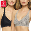 2 PACK Felina Women/'s Lace Racerback Bralette Pick Colors and Size