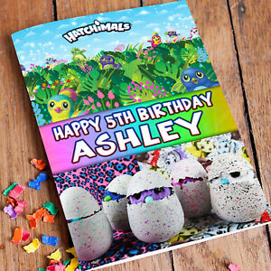 Image Is Loading HATCHIMALS Personalised Birthday Card FREE 1st Class Shipping